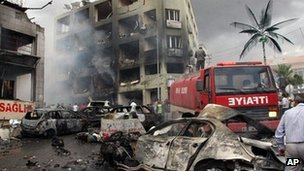 Site of bomb blast in Reyhanli. 11 May 2013