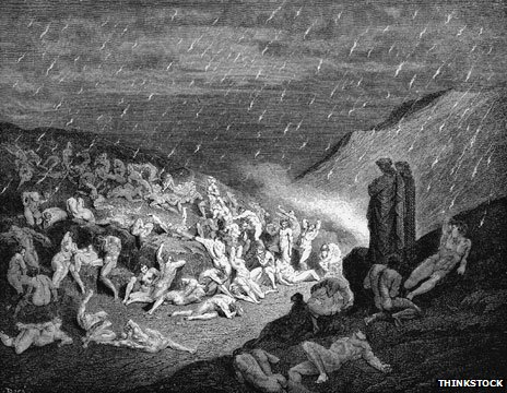 Scene from Dante's Inferno, illustrated by 19th Century artist Gustave Dore
