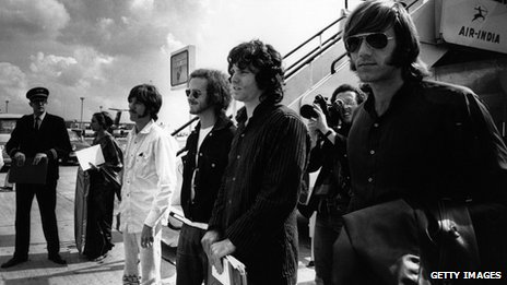 John Densmore, Robby Krieger, Jim Morrison and Ray Manzarek pictured in 1968