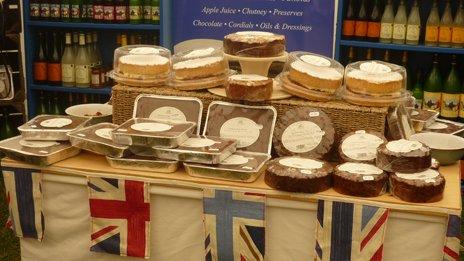 Farmhouse cookery cake stall