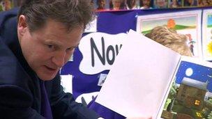 Nick Clegg at Gravesend nursery