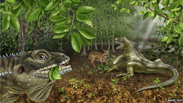 Artist's interpretation of the Lizard King