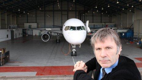 Bruce Dickinson at Cardiff Aviation