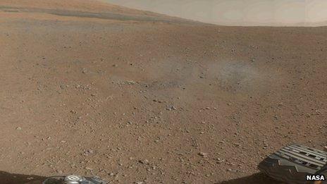 Photo of Mars from the Curiosity Rover