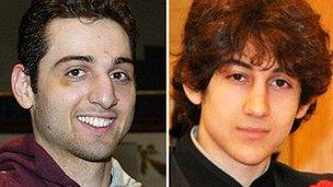 The suspected Boston bombers