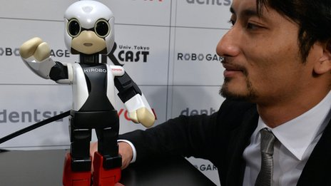 Kirobo with developer Tomotaka Takahashi