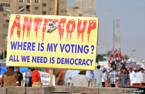 Egypt placard