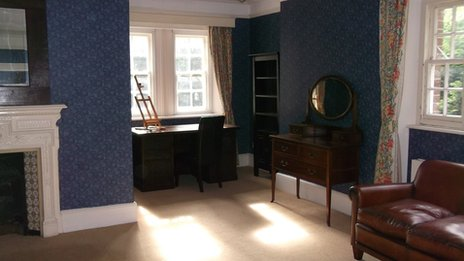 Thomas Hardy's study and bedroom