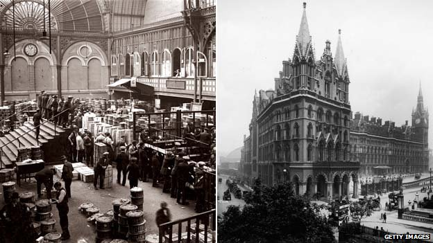 Covent Garden Market and St Pancras Station