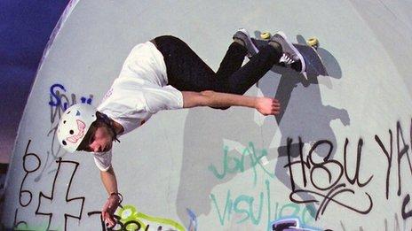 Alex Halford at the Boyley Skate Park