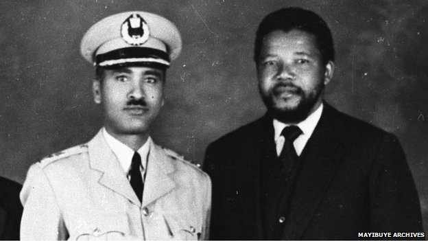 General Tadesse Birru and Nelson Mandela