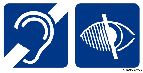Symbols for deafness and blindness
