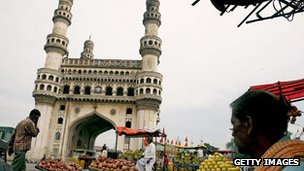 The Charminar in central Hyderabad