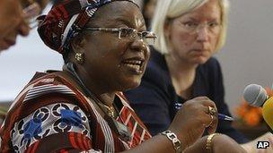 UN Special Rapporteur Joy Ezeilo (file image)