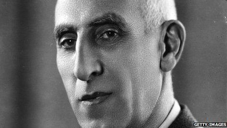 Mohammad Massadeq, overthrown Iranian prime minister (file photo)