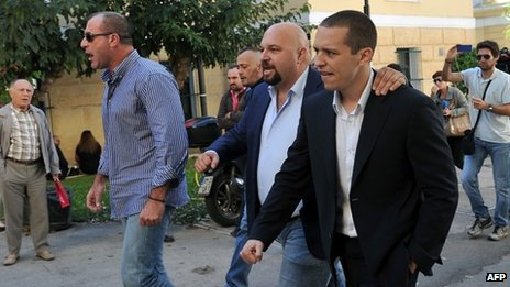Greek Golden Dawn MPs leave court pending trial