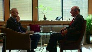 Evan Davis and Alan Greenspan