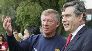 Sir Alex Ferguson and Gordon Brown