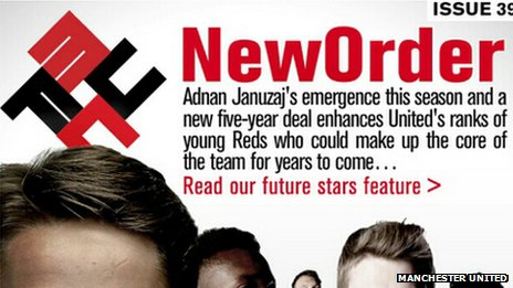 New Order title used in Manchester United newsletter