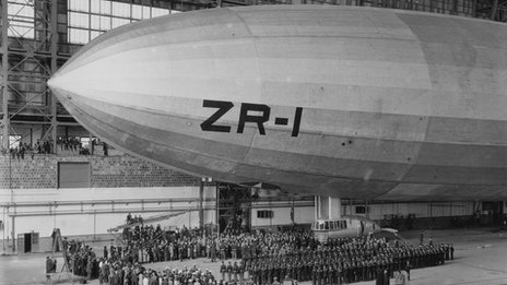 US airship USS Shenandoah, the first helium-filled rigid airship, 1923