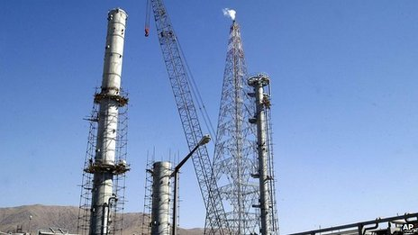 Iran's heavy water plant at Arak, file pic