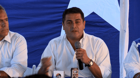 Honduras National Party candidate for president, Juan Orlando