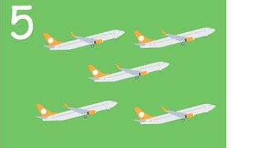 5 planes