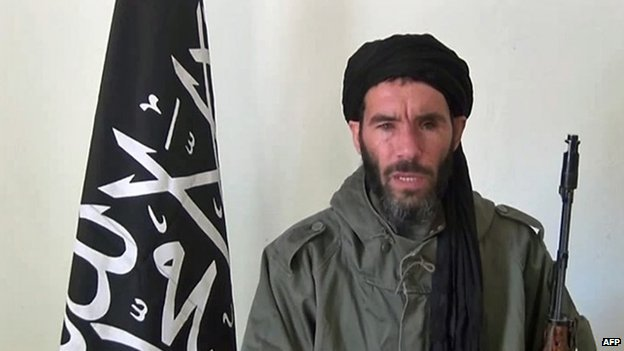 An undated grab from a video obtained by ANI Mauritanian news agency reportedly shows Al-Qaeda in the Islamic Maghreb (AQIM) emir Mokhtar Belmokhtar