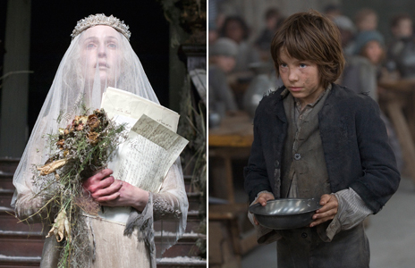 Left: BBC TV adaptation of Bleak House (2011) and Oliver Twist (2007)