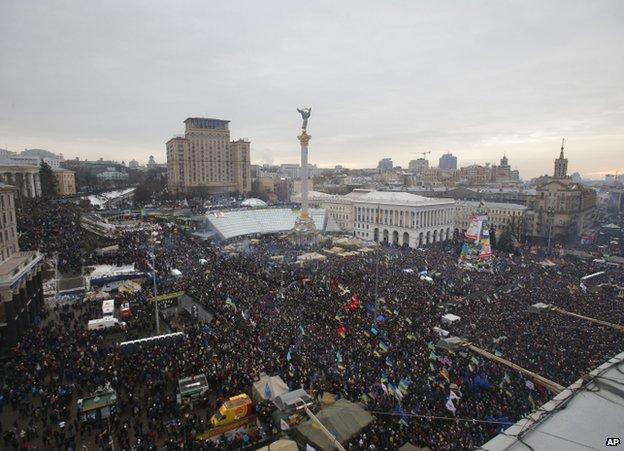 Pro-EU rally on Kiev's Independence Square, 15 December