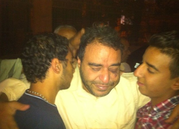 Hany Sedhom just after his release