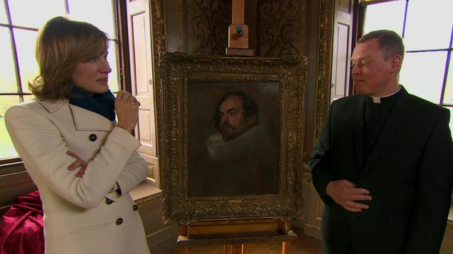 A hunch by presenter Fiona Bruce leads to the portrait being identified as a genuine Van Dyck