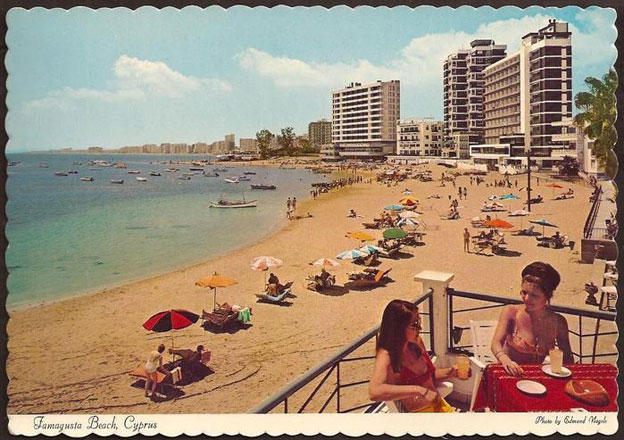Postcard of Varosha in its heyday