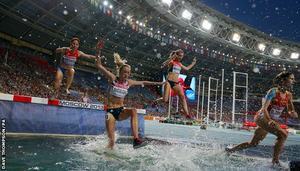Eilish McColgan in action at last year's World Athletics Championships in Moscow.