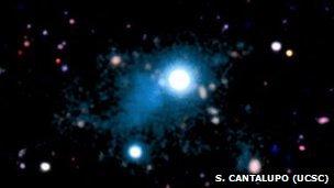 UM 287 quasar and gas