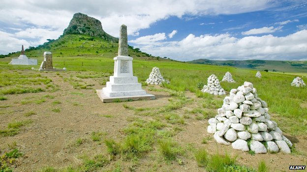 Soldiers' graves on Sandlwana hill