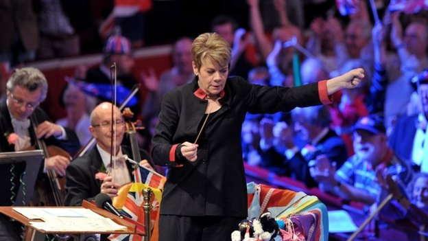 Marin Alsop conducts the Last Night of the Proms