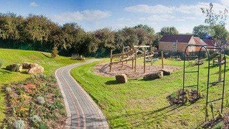 Play area in Huthwaite, Nottinghamshire