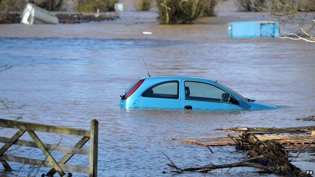 Burrowbridge, Somerset, 9 February 2014