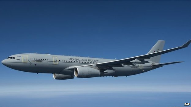 An RAF Voyager plane