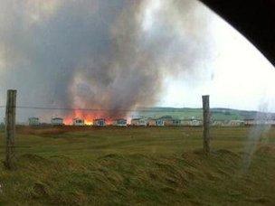 Fire in Borth