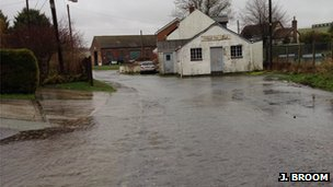 Flooding in Tilshead, Wiltshire