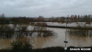 Floods at Gloucester docks