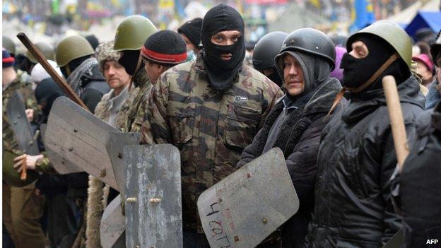 Protesters in Kiev's Maidan, 16 February 2014