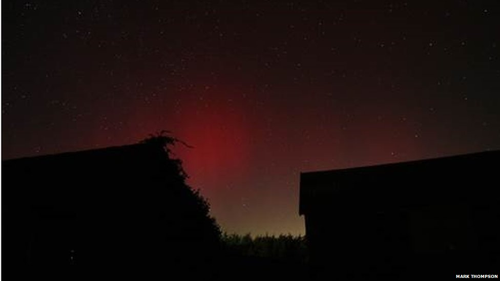 Northern Lights in Norfolk