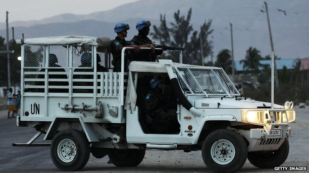 UN peacekeepers in Haiti (7 March 2012)