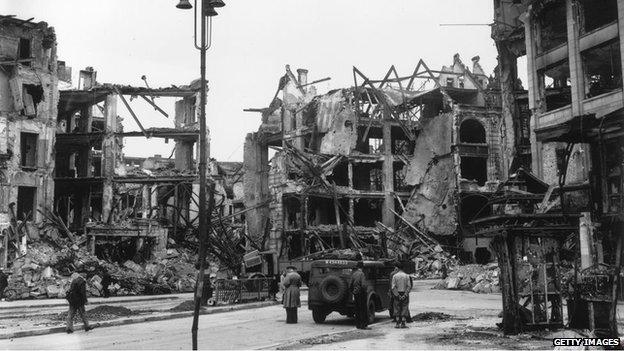 Centre of Berlin in 1945