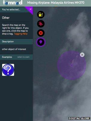 Tomnod screenshot