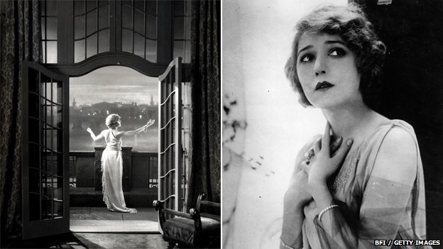 Betty Balfour in Love, Life and Laughter (left) and Mary Pickford