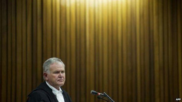 Defence lawyer Barry Roux, 7 April